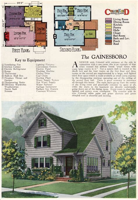 home plan magazines 1927 gainsboro two modern colonial vintage 1920s