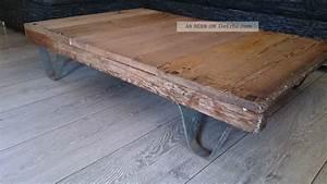 Couchtisch Loft Design : industrie design loft couchtisch antik transportwagen rollpalette bauhaus art ~ Indierocktalk.com Haus und Dekorationen