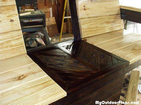 diy double chair bench  cooler myoutdoorplans