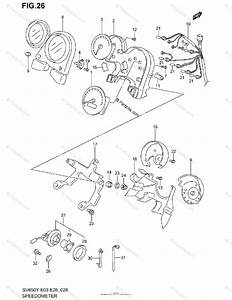 Suzuki Motorcycle 2001 Oem Parts Diagram For Speedometer