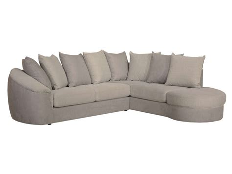 canapé tissu conforama canapé d 39 angle fixe droit 5 places en tissu boreal coloris