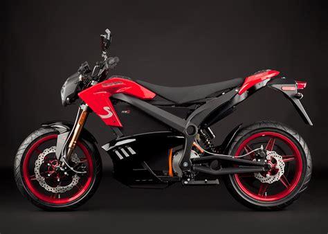 2012 Zero S Electric Motorcycle Red Profile Left