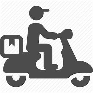 Boy, courier, delivery, logistic, man, package, scooter ...