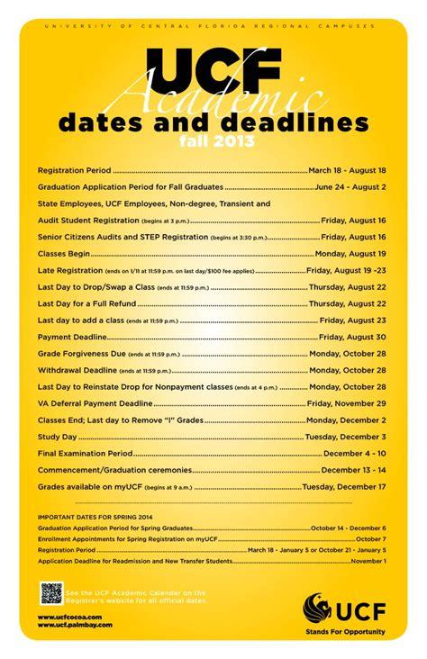 fall academic calendar university central florida pintere