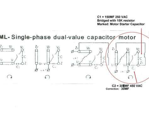 Electric Start Wiring Diagram by Single Phase Motor Wiring Diagram With Capacitor Start