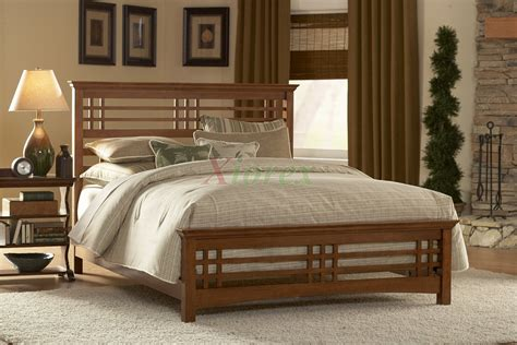 avery slat bed oak stain bed  fashion bed group xiorex