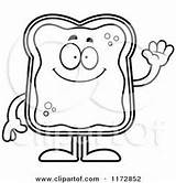 Bread Toast Coloring French Waving Sheets Outlined Character Friendly Cartoon Clipart Royalty Cory Thoman Sweet Colouring Vector Hug Google Wanting sketch template