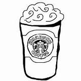 Starbucks Coloring Cup Coffee Printable Outline Frappuccino Template Zoeken Google Collab Rebecca Templates Coloringonly Categories Drawings sketch template
