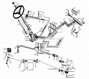 Steering Cylinder Jinma 204 254 284 Tractor Parts