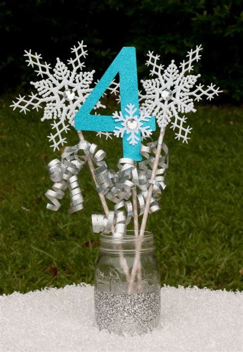 snowflake table decorations laurensthoughtscom