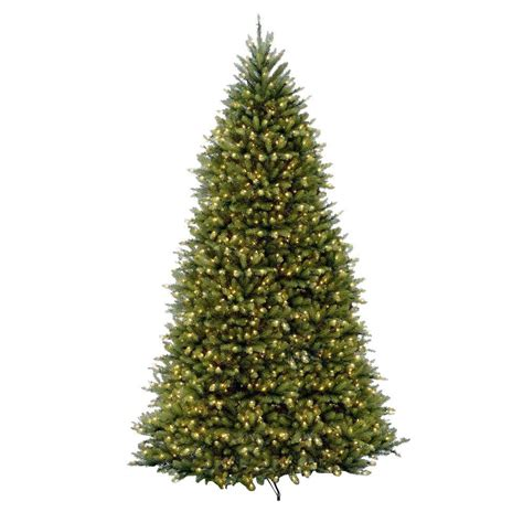 national tree company 10 ft pre lit dunhill fir hinged