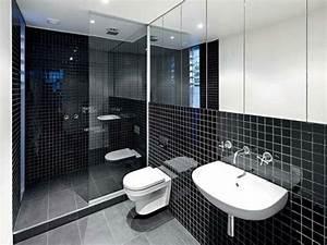 le salle de bain design en blanc et noir With photo salle de bain noir et blanc