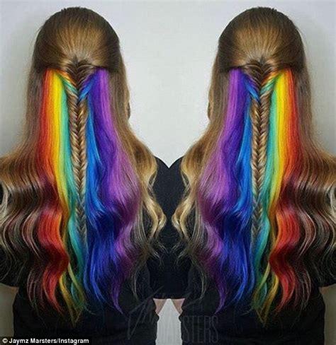 rainbow hair color 16 rainbow hair color ideas you ll go