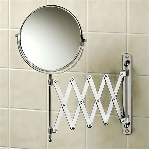 Extending Bathroom Mirrors bathroom extending arm make up cosmetic wall