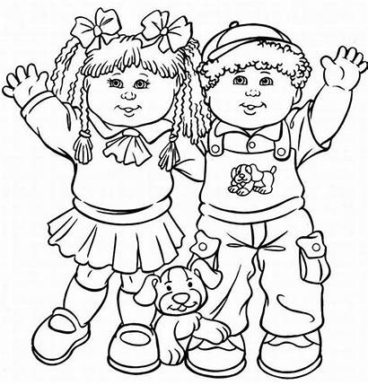 Cabbage Coloring Patch Pages Colouring Printable Dolls