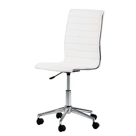 chaise de bureau blanc chefsessel lederoptik weiß bürostuhl drehstuhl