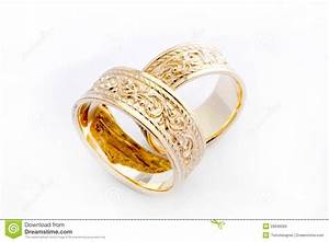 Golden wedding rings royalty free stock images image for Golden wedding rings