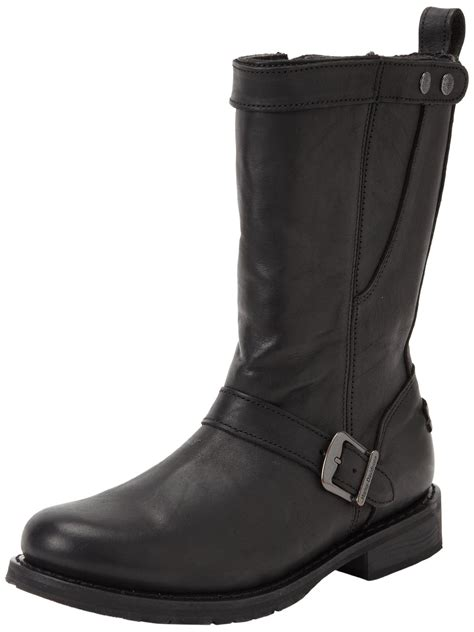 mens black motorcycle riding boots harley davidson vincent mens black leather biker riding