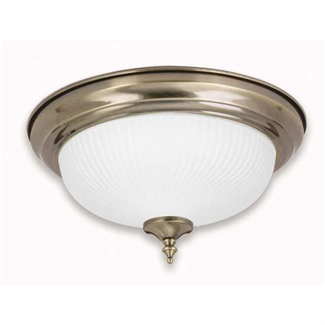 antique brass and frosted swirl glass ceiling light