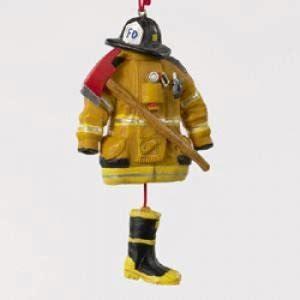 amazon com resin fireman dress ornament christmas ornament home kitchen