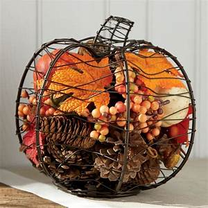 Wire, Pumpkin, With, Fall, Filler