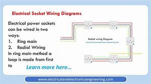 Electrical Outlet Wiring Diagram  Radial And Ring Mains