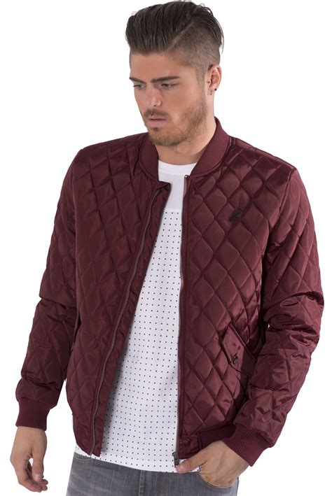 mens quilted bomber jacket kangol mens quilted ma1 bomber jacket zip up lightweight