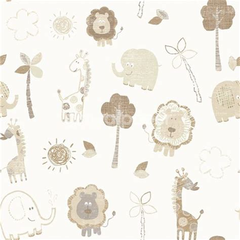 debona zoo wallpaper  beige