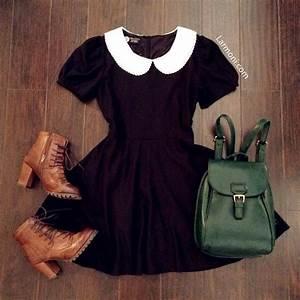 Peter Pan Collar Little Black Dress  The Art of Vintage-inspired u0026 Cute Womenu0026#39;s Clothing ...