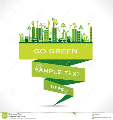 environment friendly design creative eco friendly city design background stock vector image 43268222
