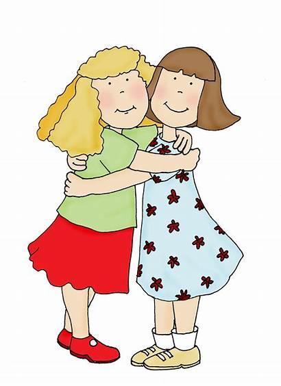 Hugs Hugging Hug Friends Clipart Friendship Dearie