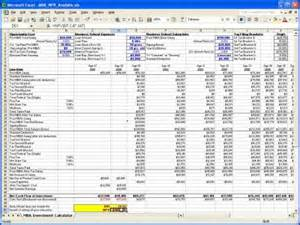 Mortgage Excel Template Mba Npv Calculator Excel Templates