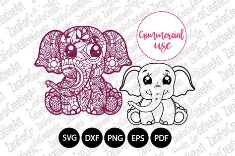 A mandala is a circular picture, diagram or artwork that originated in hindusim and buddhism. cute elephant mandala svg