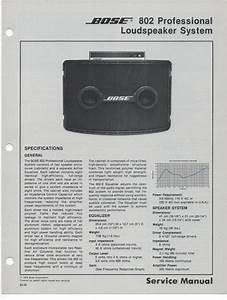 Bose 302 Ii Subwoofer User Manual