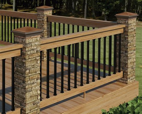deck railing decor tips cool exterior design with deck railing