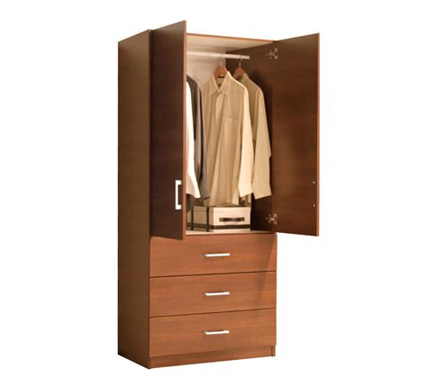 Wardrobe Closet With Drawers by Wardrobe Closet W 2 Doors And 3 Exterior Drawers Item