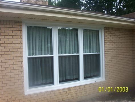 Triple Double Hung Mulled unit   Windows   Pinterest