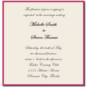 wedding invitations wording from bride and groom wedding With wording for informal wedding invitation from bride and groom