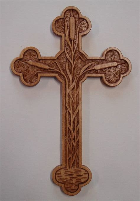 hand carved wood designer cross  holiwood  etsy