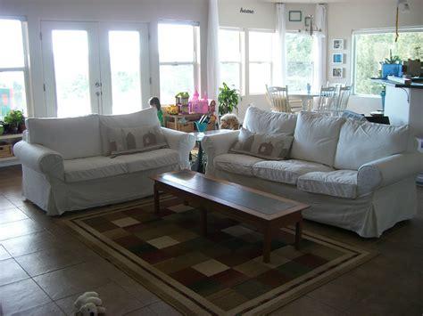 home kids life white sofas children ikea ektorp
