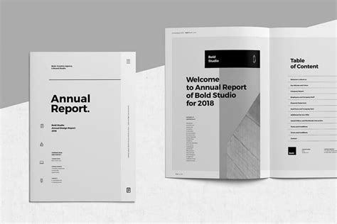 annual report templates word indesign