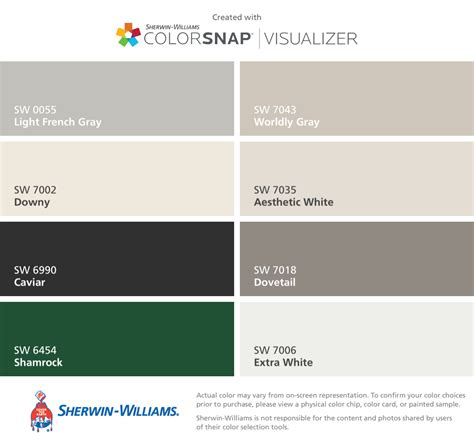 all interior paint colors sherwin williams light
