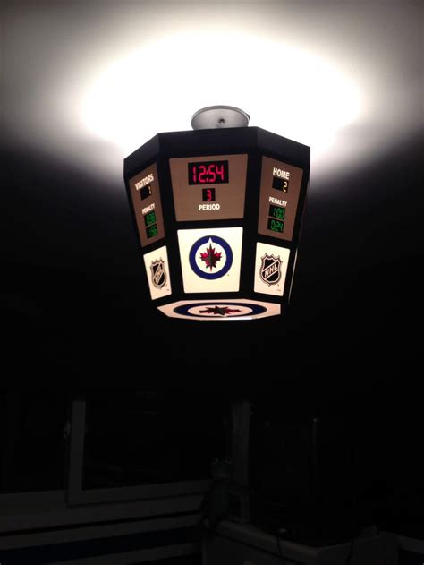 scoreboard light winnipeg jets bedroom theme