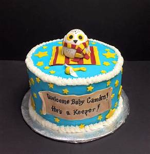 Harry Potter Themed Baby Shower Cake - CakeCentral com