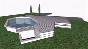 Bois Pour Terrasse Piscine : terrasse piscine bois ip youtube ~ Edinachiropracticcenter.com Idées de Décoration