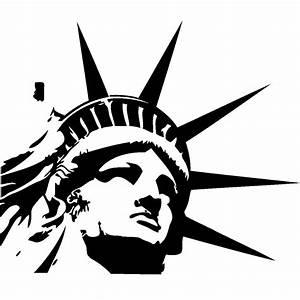 stickers new york tete statue de la liberte ambiance With carrelage adhesif salle de bain avec led skin mask