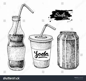 Vector Soda Drawing Hand Drawn Soda Stock Vector 401429470 ...