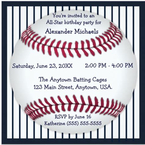 baseball invitation template baseball birthday invitations 16 free psd vector eps ai format free premium