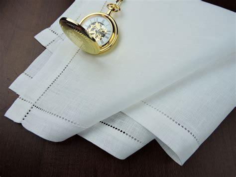 thomas ferguson mens white irish linen handkerchief