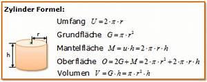 Zylinderoberfläche Berechnen : formel volumen zylinder b rozubeh r ~ Themetempest.com Abrechnung